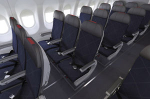 American Airlines Rows of Seats