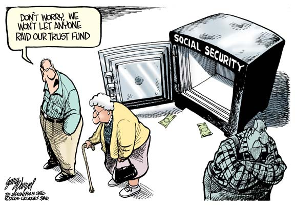 Cartoon: Empty Social Security Vault