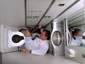 Tiny airline bathroom