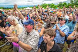 Senior Citizens at a music festival