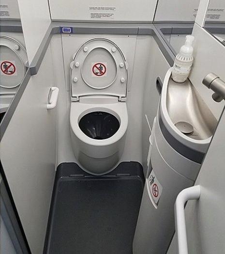 American Airlines Bathroom