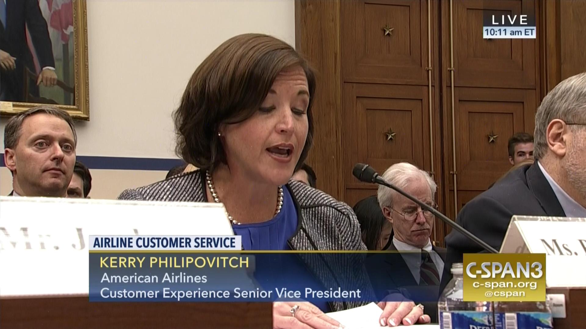 American Airlines Executive testifies before Congress.