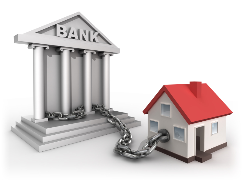 house locked to bank