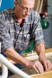Older man working