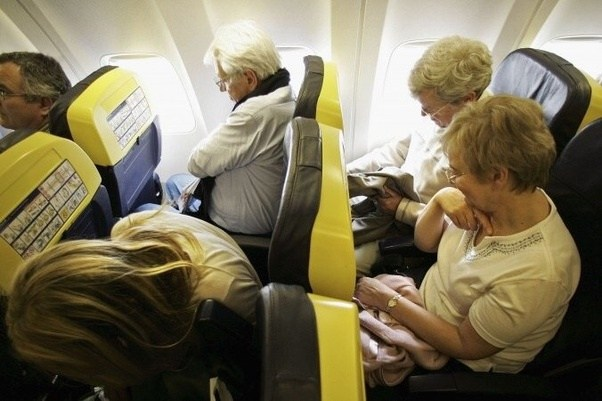 Uncomfortable airplane