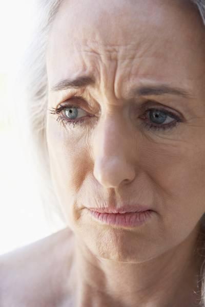 Worried older lady